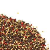 Mixed peppercorns isolated on white background — Stock Photo