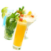 Screwdriver Cocktail on blurred Cocktails Collection on white ba — Stock Photo