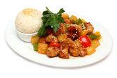Pork with rice - Asian gourmet food — Stock Photo