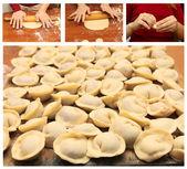 Pierożki - domowe gotowanie — Zdjęcie stockowe