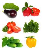 Set of vegetable fruit isolated on white background — Stock Photo