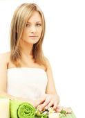 Woman in beauty salon - dayspa — Stock Photo