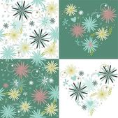 Flowers background set — Stock Vector