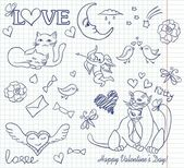 Valentine sketch — Stock Vector