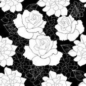 Seamless rose — Stock Vector