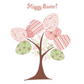 Easter background tree — Stock Vector