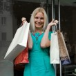 Shopping smile woman — Stock Photo