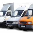 Three vans — Stock Photo
