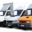 Three vans - Stock Photo