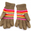 Knitted gloves — Stock fotografie