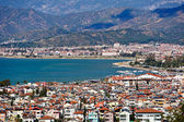 Fethiye city and sea view from hills — Stock Photo