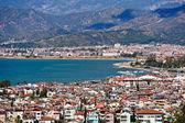 Fethiye staden och havet Visa från hills — Stockfoto