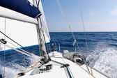 Speed sailing yacht in the sea — Stock Photo