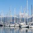 Sailing boats and yachts in the marina. Mediterranean sea. — Stock Photo