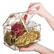 Stock Photo: Decorative box with Christmas eve toys