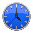 Blue clock icon — Stock Photo