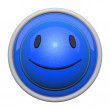 Happy Face Icon 3d — Stock Photo
