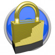 Gold Lock Icon — Stock Photo