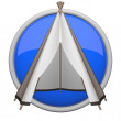 Stock Photo: Blue teepee icon