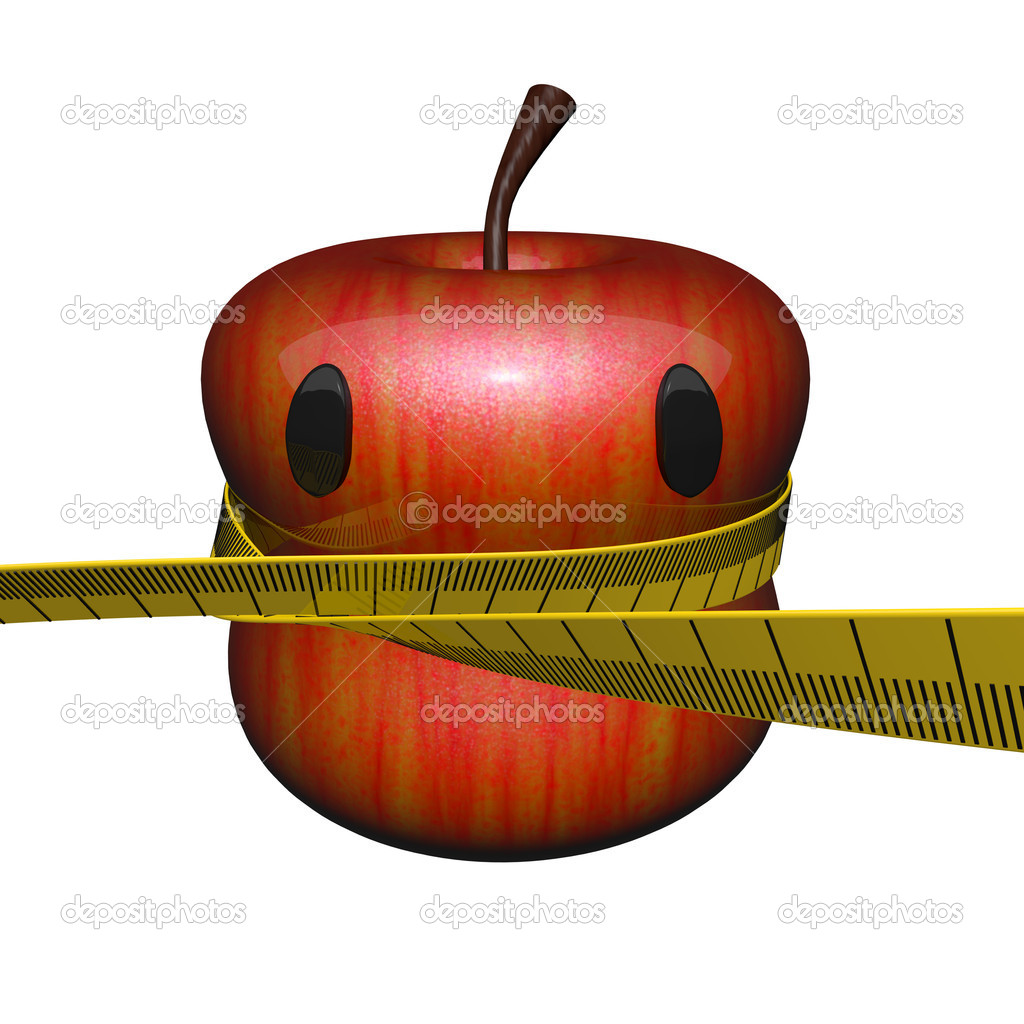 Fitness Concept Apple, cute. — Stock Photo #8860554