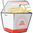 Stock Photo: Chinese Food Take-Out Box