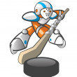 Orange Man Hockey Player - Foto Stock