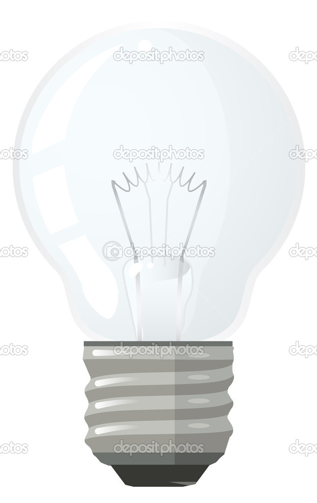 Vector derivative of a light bulb.  Stock Photo #9558718