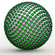 Stock Photo: Green 3d Orb Sphere Golden Ratio Fibonacci Sequence Concept