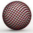 Abstract Techno Sphere, 3d — Stock Photo