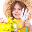 Happy child in the garden — Stock Photo