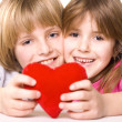 Child heart — Stock Photo