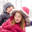 Children on the snow — Stock Photo #9012312