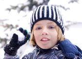 Children on the snow — Stock Photo