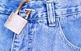 Textura de jeans — Fotografia Stock