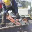 Railway Track Maintenance - Foto Stock