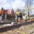 CN Crew Repairing Railway Track - Stok fotoraf