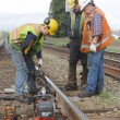 Crew Repairing Railway Track — Stock Photo