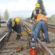 Stock Photo: Repairing Railway Track