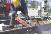 Railway Track Maintenance — Stockfoto