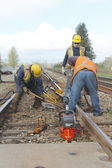Repairing Railway Track — Stock Photo