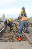 Repairing Railway Track — Stock Photo