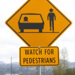 Stock Photo: Watch for Pedestrians Signage