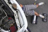 Man Repairing his Car — Stock Photo