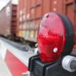 Warning Light at Train Crossing — Stock Photo