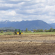 Field Being Plowed - Stock Photo