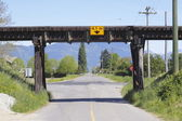 Railway Trestle over Road — Stock Photo