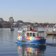 Water Taxi in Vancouvers False Creek — Stock Photo