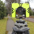 Stock Photo: Back View of Surveyors Prism