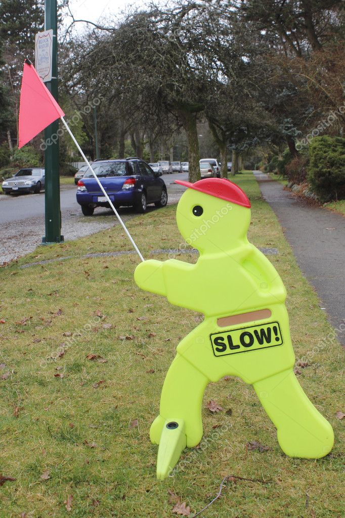 Slow Down Children Playing Signage Stock Photo 169 Modfos