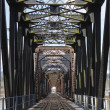 An Old Iron Train Bridge — Stock Photo